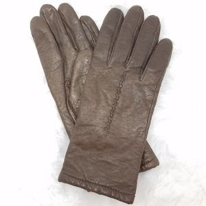 GRANDOE Brown Leather Gloves M
